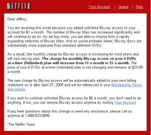 netflix wants to raise my price to access to Blu-Ray by $4/month!